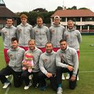 The Suffolk squad from back left to right the players are - Matt Kirby, Ben Jones, Jez Cowley (capta