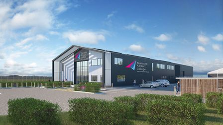 A CGI picture of how the new college might look at the site. Picture: STANSTED AIRPORT/HARLOW COLLEG