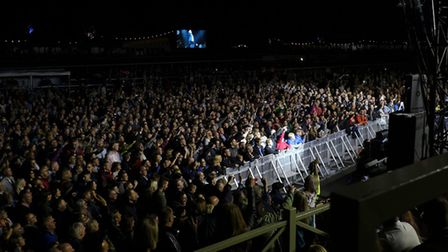 Thousands turned out to see James live. Picture: JENNY ENTWISTLE/CHUFF MEDIA