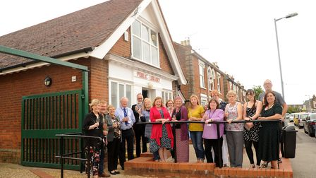Staff and supporters at the newly-refurbished Rosehill Library in Ipswich. Picture: ARCHANT