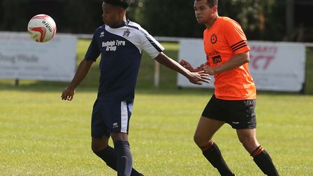 Kyron Andrews was on target for Hadleigh
