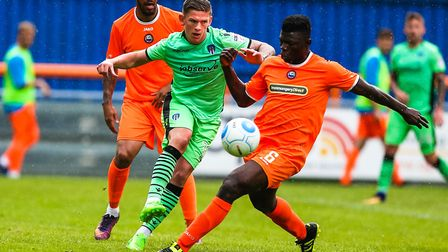 Scott Shulton, right, was also on target for Braintree