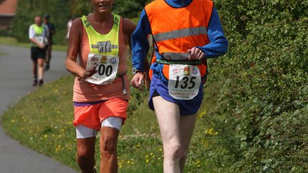 The 100 mile national race walking championships in Bury St Edmunds. Picture: PHIL MORLEY