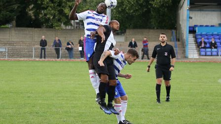 Ilford posed a physical test to Woodbridge in the FA Cup.