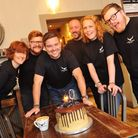Scott Russell, centre, leads the 10th anniversary celebrations of Paddy & Scott's at its flagship c