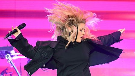 Ellie Goulding performing at the V Festival in Hylands Park, Chelmsford. Picture: IAN WEST/PA WIRE
