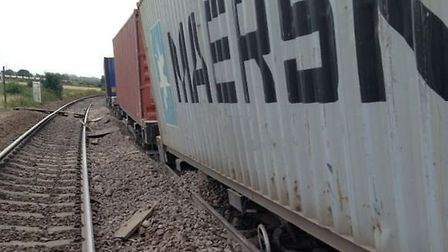 The derailed freight train near Ely that has caused massive disruption to services between Bury St E
