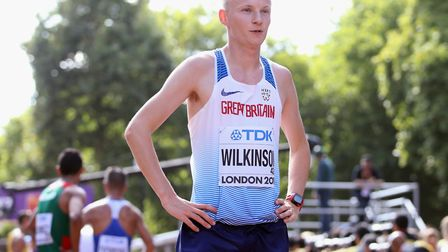 Callum Wilkinson after finishing 41st in the men's 20km race walk on The Mall on Sunday. Picture: PA