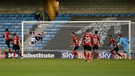 Aiden O'Brien pulls the score back to 2-2 with an acrobatic finish for Millwall Picture Pagepix
