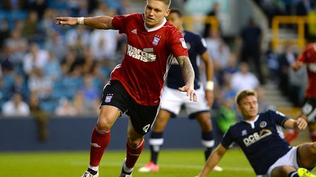 Martyn Waghorn celebrates one of his first half strikes at Millwall. Pictures: PAGEPIX LTD