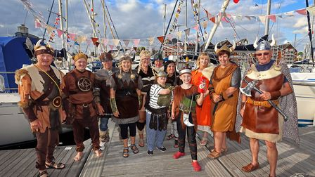 ABP's staff and berth holders get in the spirit of the Viking themed Maritime Festival at Haven Mari