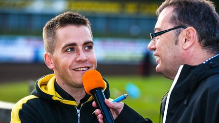 Witches team manager Ritchie Hawkins is interviewed by Stephen Foster ahead of the meeting.