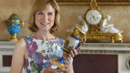 Fiona Bruce will be filming with the Antiques Roadshow team at Helmingham Hall on August 31. Picture