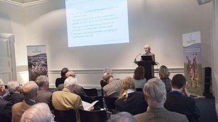 Peter Thompson speaking at a conference. Picture: JON P FARMER