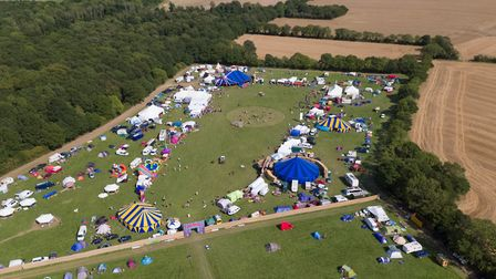 The Maui Waui festival grounds in Theberton captured by aerial drone cameras. Picture: SYNAMIX