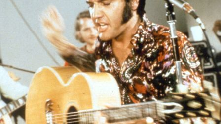 Elvis rehearsing in the studio - July 1970. Photo: MGM