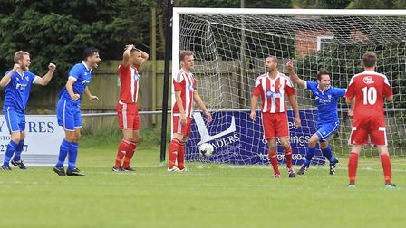 Brantham won 7-2 at Felixstowe & Walton in the last round of the FA Cup