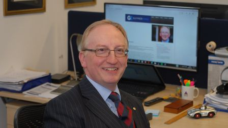 David King in his new Hadleigh office. Picture: JOHN HASCHAK