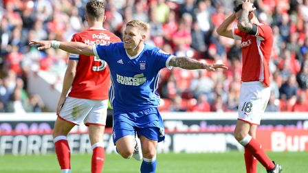 Martyn Waghorn celebrates scoring Ipswich's winner at Barnsley Picture Pagepix
