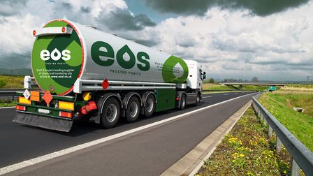 New branding for Electrical Oil Services Ltd by Sudbury-based Mackman Group, pictured on its EOS tan