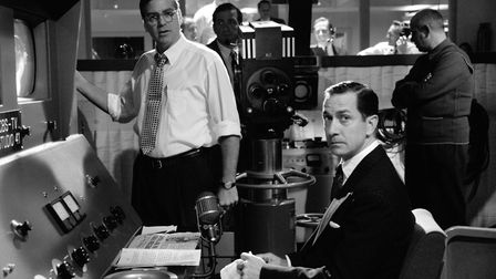 David Strathairn as Ed Murrow and George Clooney as Fred Freindly in his film about the McCarthy wit