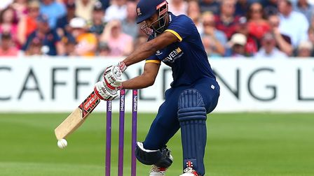 Varun Chopra, who finished on the losing side despite scoring 114 for Essex against Kent tonight. Pi