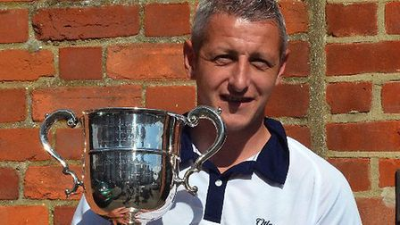 Andy Drummond who retained his Suffolk Champion of Champions title 2017. Pictures: RAY ANDREWS