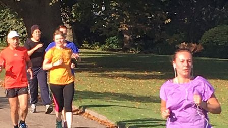 Runners enjoy the sunny conditions at last Saturday's 233rd Colchester Castle Parkrun
