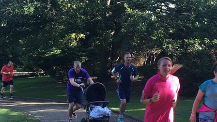 Runners at last Saturday's Colchester Castle Parkrun. Carl Marston just managed to stay ahead of all