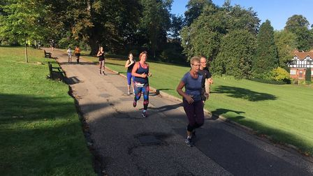Runners from among a field of 332 at last Saturday's Colchester Castle Parkrun