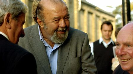 Sir Peter Hall at the official opening of the historic Theatre Royal in Bury St Edmunds in 2007. P