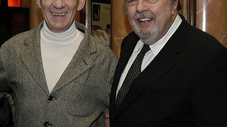 Sir Peter Hall CBE and Sir Ian McKellen CBE at the launch of The Theatre Royal, Bury St Edmunds Res