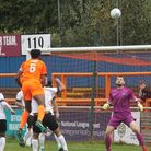 Braintree force early pressure against Royston in the FA Cup.