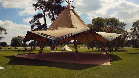 A tipi similar to the one being shipped by Events Under Canvas to Sicily for a corporate event at th