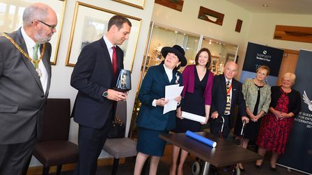 The Queen's Award presentation to Superyacht Tenders & Toys at the Royal Harwich Yacht Club, Woolver