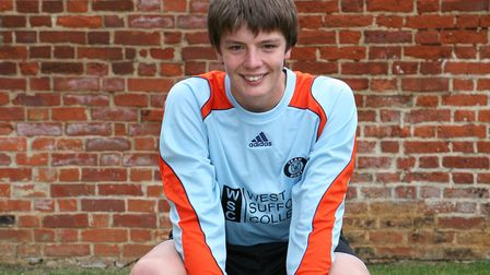 Nick Pope, as a young goalkeeper at Bury Town, in 2009.