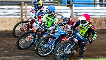 Nathan Greaves, red and Connor Mountain blue, were both in action for the Witches at Glasgow.