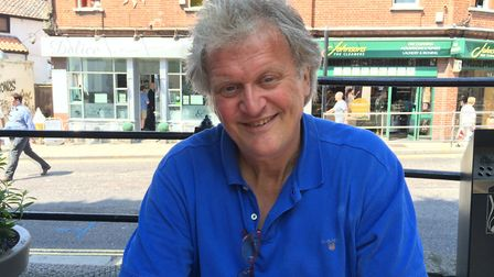 Tim Martin, chairman of Wetherspoons, at The Bell Hotel in Norwich during his pro-Brexit tour