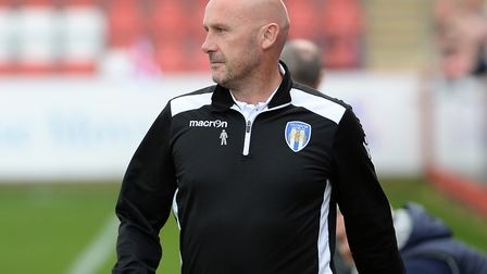 U's boss John McGreal, during the 3-1 defeat at Cheltenham last weekend. Picture: PAGEPIX