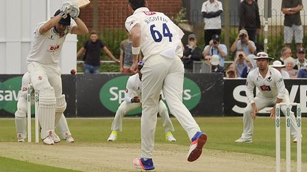 Essex's Nick Browne, has batted his side into a strong position against Somerset.