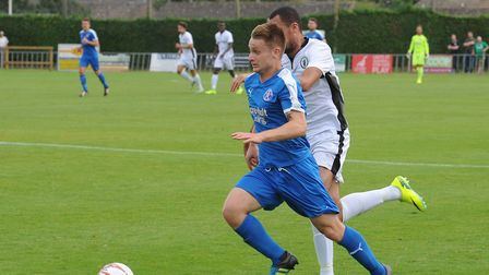 Ex-Ipswich Town man Byron Lawrence was influential again for Leiston