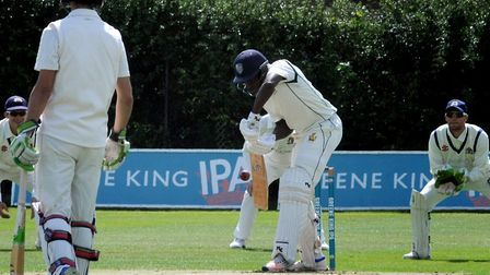 Daron Cruickshank, who guided Bury St Edmunds to victory with a superb 111 not out at Burwell. Pictu