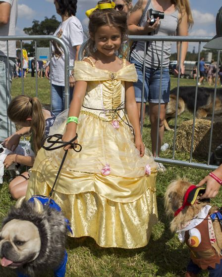 One girl dressed herself and her dogs up as Beauty and the beast. Picture: ADRIAN BIGGS