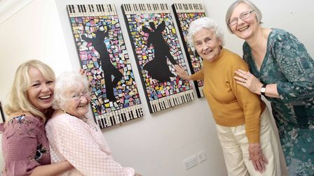Unveiling of Art Work by Alderwood Care Home Residence 07. Residence, Grace Collins and Dorothy Perr