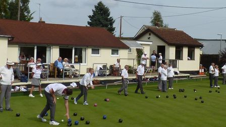 Action in the Happy Haddock Triples Tournament at Melton. Picture: RAY ANDREWS