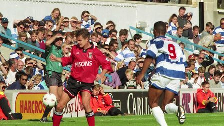 Stuart Slater on the ball for Ipswich against QPR in Town's 2-1 win at Loftus Road in 1994