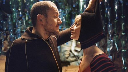 Dany Boon and Julie Ferrier in Micmacs, a surreal comedy in which a group of misfits use recycling t