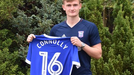 Ipswich Town signed teenage Everton defender Callum Connolly on loan for the 2017/18 season. Photo: