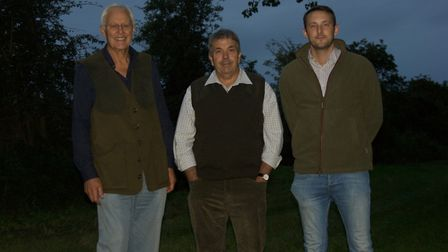 GWCT grey partridge awards event at IxworthThorpe: finalists Jonathan Minter and Robert Graves of Ri