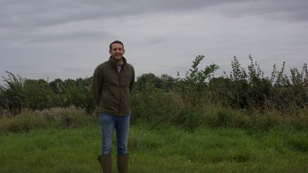 GWCT grey partridge awards event at IxworthThorpe: finalist Adam Steed of Red House Farm shoot at Ba
